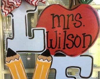 School door hanger, school wreath, school door decoration, door decorations