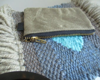 Modern zipper pouch credit card unisex minimalist toiletry storage bag coin purse zipper case