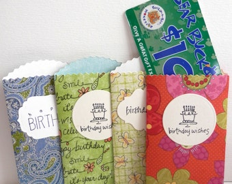 Birthday Gift Card Holders Multipack