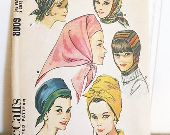 Hat Pattern McCall's 8009 Quickie Hat Vintage Sewing Pattern Uncut 1980s Fashion