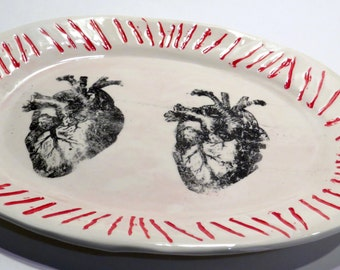 Two Hearts Beat As One Ceramic Platter