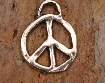 Sterling Silver Artisan Peace Charms, PP2