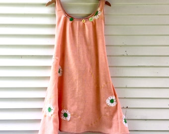 Summer Sale!  Porch and Lemonade Dress: One Size fits S-L, Eco friendly dress, vintage, handmade, mori girl, womens dress, summer dress