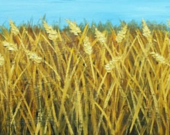 Wheat painting 41 12x36 inch oil painting by Roz