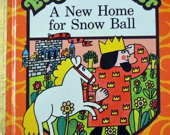 Vintage Children's Book A New Home for Snow Ball  Little Golden Book Eager Reader Joan Bowden