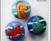 Sea Life Hand Painted Decor...Priced per Knob
