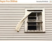 40% OFF SALE White Decor, Rustic, Geometric, Farmhouse Photography, Window, Black and White, Lines - 5x7 inch Print, Fly Through The Window