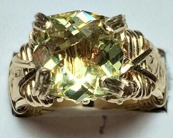 Feldspar gold filled ring