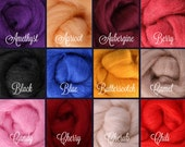 SELECT 5 COLORS, Wool Roving, Roving Wool, Wool Roving for Felting, Wool Roving for Spinning, Wool Roving for Sale, Needle Felting Supplies