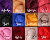 SELECT 6 or 12 COLORS, Wool Roving, Roving Wool, Wool Roving Felting, Wool Roving 4 Spinning, Wool Roving for Sale, Needle Felting Supplies