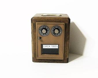 Post Office Box 1950's - 60's  Door Bank Dual Dial Combination Lock