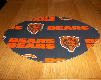 Mouse Pad, NFL, Chicago Bears, Mouse Pads, Mousepad, Desk Accessories, Mouse Mat, Office Decor, Football Shape, Computer Mouse Pad, Gift