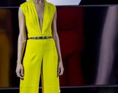 Hullabaloo 2015 One of a Kind Citron Jumpsuit-reserved for Caitlin