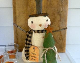 Primitive Snowman Christmas tree SALE Christmas decoration