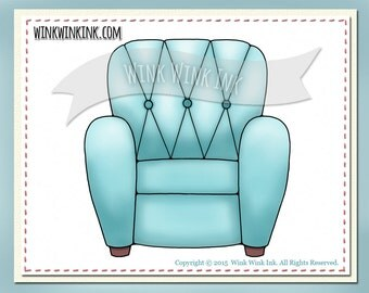 Digital stamp - Favorite Chair - great prop for your pet stamps