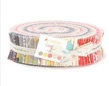 Sundrops Honey Bun Moda Fabric by Corey Yoder for Little Miss Shabby Cotton Quilt Fabric Sewing Fabric Collection 1.5 inch strips