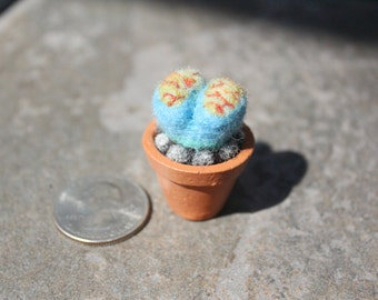Miniature Needle-felted Succulent - Lithops #1