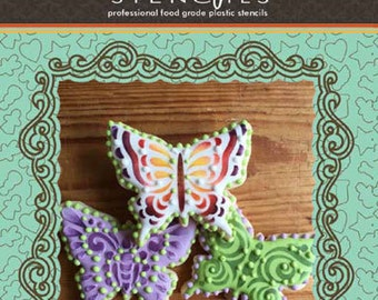 Butterflies Tin Cookie Cutter and Stencil Set - Designer Stencils (TS063)