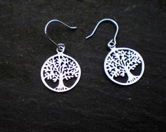 Sterling Silver Filigree Tree of Life Earrings