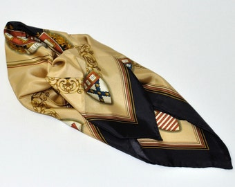 Harvard Veritas Square Silk Scarf
