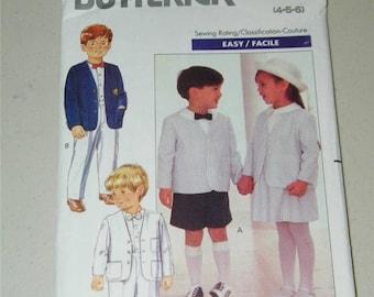 Vntg Butterick Toddler Jacket Shirt Skirt Shorts Pants Pattern 4580 Sz 4 12653