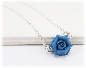 Tiny Rose Necklace - Rose Jewelry