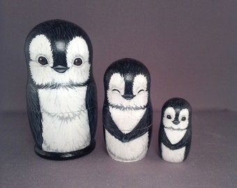 Nesting Doll Penguins Set of 3