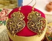 Portuguese folk Viana Heart filigree earrings-Get home page Coupon
