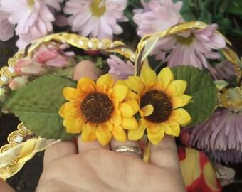 Wedding Handfasting Cord - Sunflower Yellows