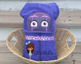 Bedtime Heroes Hooded Towel PJ Masks Villain Ninjalinos