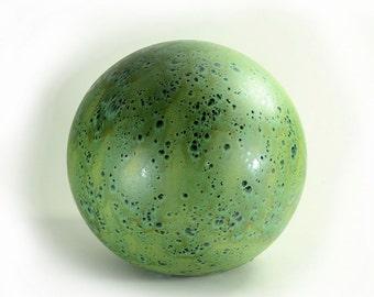 8 Inch Ceramic Gazing Ball Cascade Green