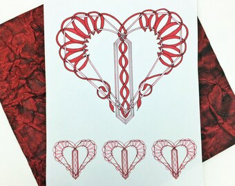 Downloadable Coloring Pages for Valentine's Day,  Coloring Books for Adults, PDF download