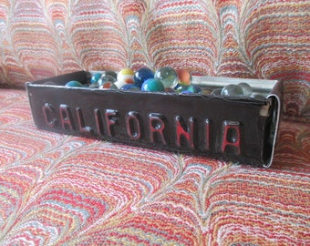 California License Plate Box - Rustic Treasure Tray - Storage Box - Planter - FREE SHIPPING