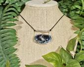 Blue Pietersite Acacia Necklace in Sterling Silver