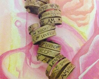I AM   Spiral  leather bracelet