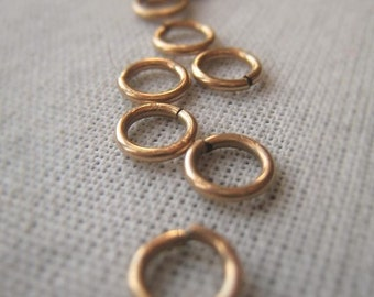 14K Gold Filled Jump Ring 6mm Ring 19 Gauge Circle Connector Item No. 8632
