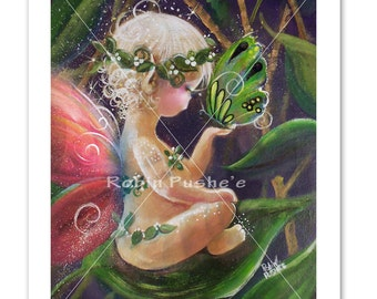 Baby Faery , Butterfly,  8x 10  PRINT