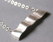 Sterling Silver Necklace forming a Wave - Reflections