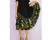 Women Maxi Gypsy Boho Hippie Summer Beach Tie Dye Rayon Comfy Dress (TD 24)