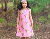 SALE A-line Dress Pattern  by Whimsy Couture Sewing Pattern with Ruffle Option 12 m - 10 girls PDF Instant Download