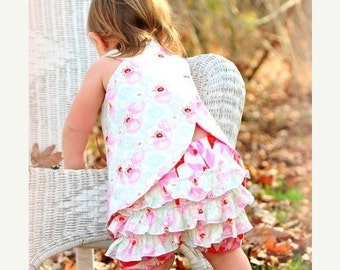 SALE Crossover Top Pattern Sewing Tutorial for reversible Criss Cross Tunic 3m - 12 girls PDF