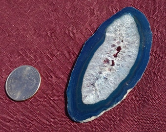 Blue Agate Geode Slice