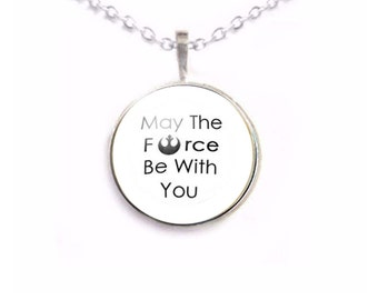 May The Force Be With You Necklace, Picture Pendant