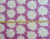 NEW Art Gallery Daisies Lilac Scent on cotton Lycra  knit fabric 1 yard