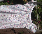 S A L E - Pink Toddler GIRLS Cotton Dress 4T-5T RePurposed ReCycled UpCycled Ready Now!
