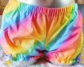 Rainbow bloomers, pastel goth rainbow fairy kei candy raver size medium M