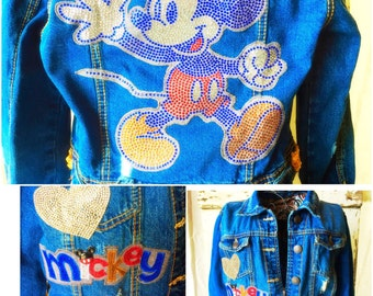 Minnie Mickey Disney Jean Jacket