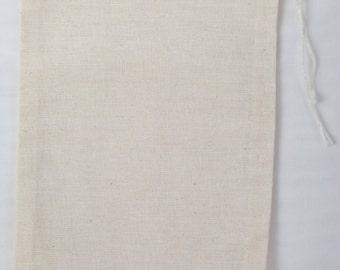 100 4x6 Cotton Muslin Drawstring Bags Bath Soap Herbs