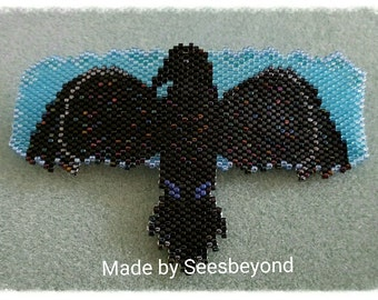 Raven Beaded Barrette