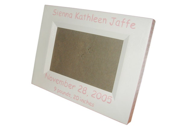 birth date picture frame
